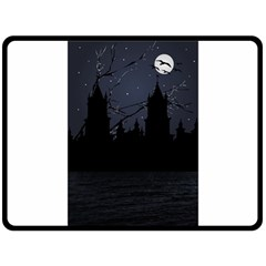 Dark Scene Illustration Fleece Blanket (large)  by dflcprints