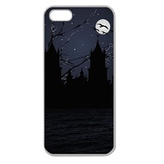 Dark Scene Illustration Apple Seamless Iphone 5 Case (clear) by dflcprints