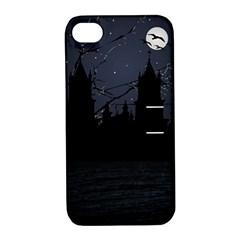 Dark Scene Illustration Apple Iphone 4/4s Hardshell Case With Stand by dflcprints