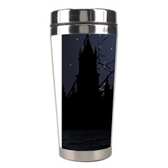 Dark Scene Illustration Stainless Steel Travel Tumblers by dflcprints