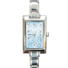 Blue Pattern Rectangle Italian Charm Watch by Valentinaart