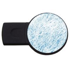 Blue Pattern Usb Flash Drive Round (4 Gb)  by Valentinaart