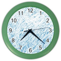 Blue Pattern Color Wall Clocks by Valentinaart