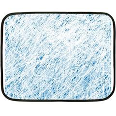 Blue Pattern Fleece Blanket (mini) by Valentinaart