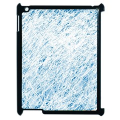 Blue Pattern Apple Ipad 2 Case (black) by Valentinaart