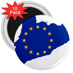 Catalonia European Union Flag Map  3  Magnets (10 Pack)  by abbeyz71