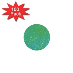 Green Pattern 1  Mini Buttons (100 Pack)  by Valentinaart