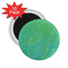 Green Pattern 2 25  Magnets (10 Pack)