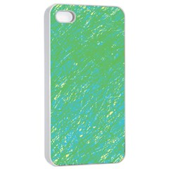 Green Pattern Apple Iphone 4/4s Seamless Case (white) by Valentinaart