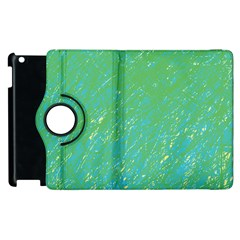 Green Pattern Apple Ipad 2 Flip 360 Case by Valentinaart