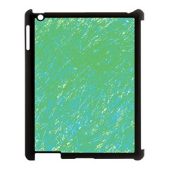 Green Pattern Apple Ipad 3/4 Case (black) by Valentinaart