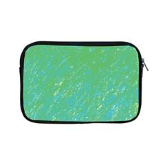 Green Pattern Apple Ipad Mini Zipper Cases by Valentinaart