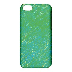 Green Pattern Apple Iphone 5c Hardshell Case by Valentinaart