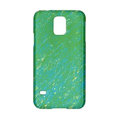 Green Pattern Samsung Galaxy S5 Hardshell Case  by Valentinaart