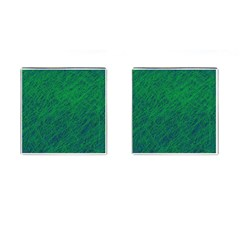 Deep Green Pattern Cufflinks (square) by Valentinaart