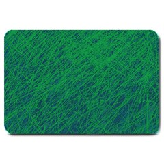 Deep Green Pattern Large Doormat  by Valentinaart