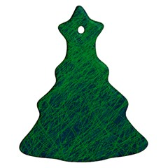 Deep Green Pattern Ornament (christmas Tree) by Valentinaart