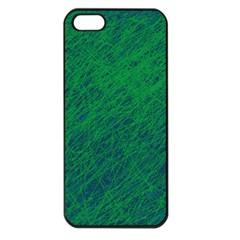 Deep Green Pattern Apple Iphone 5 Seamless Case (black) by Valentinaart