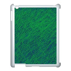 Deep Green Pattern Apple Ipad 3/4 Case (white) by Valentinaart