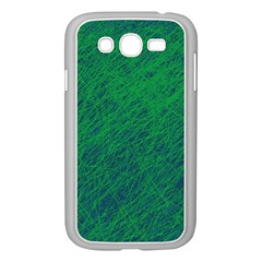 Deep Green Pattern Samsung Galaxy Grand Duos I9082 Case (white) by Valentinaart