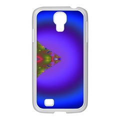 Into The Blue Fractal Samsung Galaxy S4 I9500/ I9505 Case (white) by Fractalsandkaleidoscopes