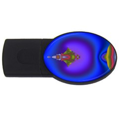 Into The Blue Fractal Usb Flash Drive Oval (4 Gb)  by Fractalsandkaleidoscopes