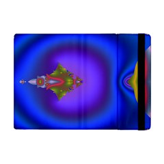 Into The Blue Fractal Apple Ipad Mini Flip Case by Fractalsandkaleidoscopes
