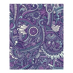 Purple Hippie Flowers Pattern, Zz0102, Shower Curtain 60  X 72  (medium) by Zandiepants