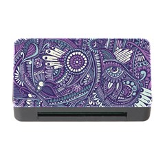 Purple Hippie Flowers Pattern, Zz0102, Memory Card Reader With Cf by Zandiepants