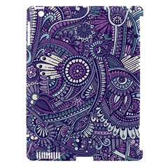 Purple Hippie Flowers Pattern, Zz0102, Apple Ipad 3/4 Hardshell Case (compatible With Smart Cover) by Zandiepants