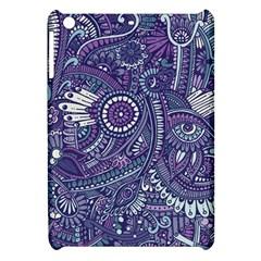 Purple Hippie Flowers Pattern, Zz0102, Apple Ipad Mini Hardshell Case by Zandiepants