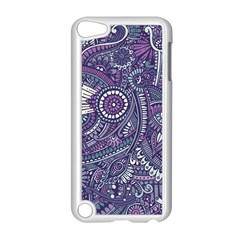 Purple Hippie Flowers Pattern, Zz0102, Apple Ipod Touch 5 Case (white) by Zandiepants