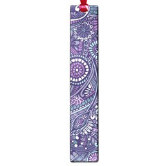 Purple Hippie Flowers Pattern, Zz0102, Large Book Mark by Zandiepants