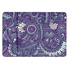 Purple Hippie Flowers Pattern, Zz0102, Samsung Galaxy Tab 8 9  P7300 Flip Case by Zandiepants