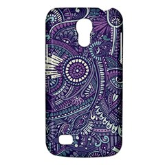 Purple Hippie Flowers Pattern, Zz0102, Samsung Galaxy S4 Mini (gt I9190) Hardshell Case  by Zandiepants