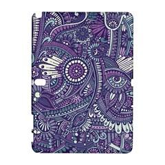 Purple Hippie Flowers Pattern, Zz0102, Samsung Galaxy Note 10 1 (p600) Hardshell Case by Zandiepants