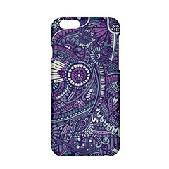 Purple Hippie Flowers Pattern, Zz0102, Apple Iphone 6/6s Hardshell Case by Zandiepants