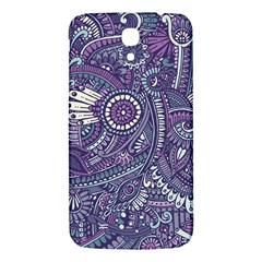 Purple Hippie Flowers Pattern, Zz0102, Samsung Galaxy Mega I9200 Hardshell Back Case by Zandiepants