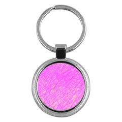 Pink Pattern Key Chains (round)  by Valentinaart