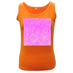 Pink Pattern Women s Dark Tank Top by Valentinaart