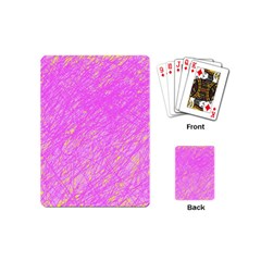 Pink Pattern Playing Cards (mini)  by Valentinaart