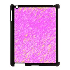Pink Pattern Apple Ipad 3/4 Case (black) by Valentinaart