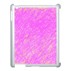Pink Pattern Apple Ipad 3/4 Case (white) by Valentinaart