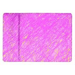Pink Pattern Samsung Galaxy Tab 10 1  P7500 Flip Case by Valentinaart