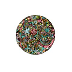 Colorful Hippie Flowers Pattern, Zz0103 Hat Clip Ball Marker (10 Pack) by Zandiepants