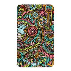 Colorful Hippie Flowers Pattern, Zz0103 Memory Card Reader (rectangular) by Zandiepants