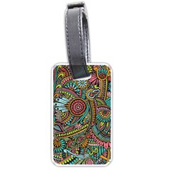 Colorful Hippie Flowers Pattern, Zz0103 Luggage Tag (one Side) by Zandiepants