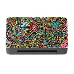 Colorful Hippie Flowers Pattern, Zz0103 Memory Card Reader With Cf by Zandiepants