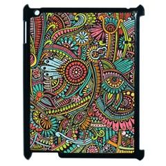 Colorful Hippie Flowers Pattern, Zz0103 Apple Ipad 2 Case (black) by Zandiepants