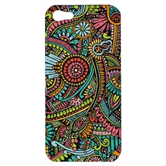 Colorful Hippie Flowers Pattern, Zz0103 Apple Iphone 5 Hardshell Case by Zandiepants
